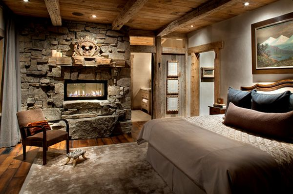 34 Beautiful Stone Fireplaces That Rock - Bring The Rusticity